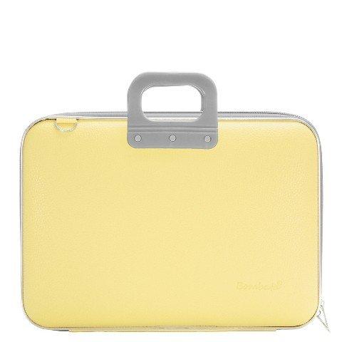 bombata-doppio-classic-briefcase-156-inch-pastel-yellow