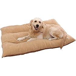 JINGC Pet Bed, Kennel/Dog Mat/Cat Mat, Removable Pet Bed - Brown,Brown,1208025Cm