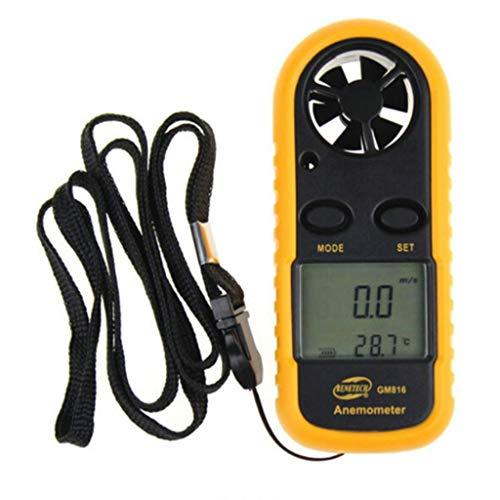 Anemómetro Lcd Anemómetro Digital de Mano Anemómetro de Mano con Pantalla Lcd Retroiluminada Y Batería para Medir con...