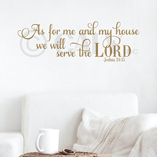 As for Me and My House We Will Serve the Lord Joshua 24:15 Vinyl Lettering Wall Decal Sticker (12