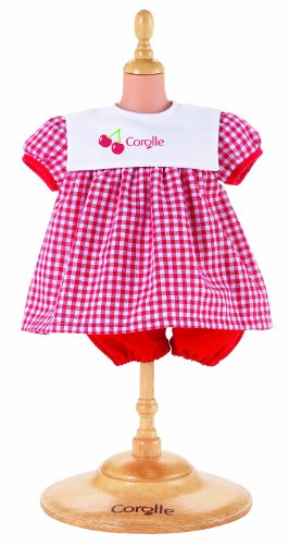 Corolle Classic 14″ Baby Doll Fashions (Red Dress Set), Baby & Kids Zone