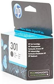 HP 301 Black Ink Cartridge - Cartucho de tinta para impresoras (Negro, Negro, Inyección de tinta, 20 - 80%, -40 - 60 °C, 15 - 32 °C) No