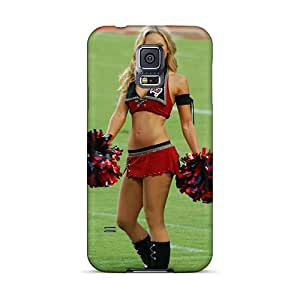 For Galaxy S5 Tpu Phone Case Cover(tampa Bay Buccaneers Cheerleaderss)