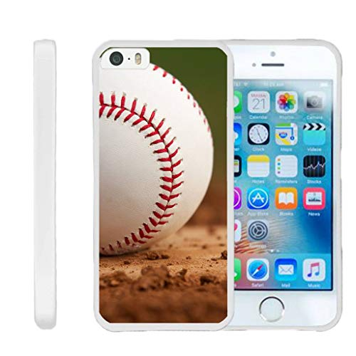 TurtleArmor | Compatible with Apple iPhone SE Case | iPhone 5/5s Case [Flexible Armor] Resistant Slim Fitted Flexible TPU Case Soft Bumper Cover Sports and Games - Baseball Dirt