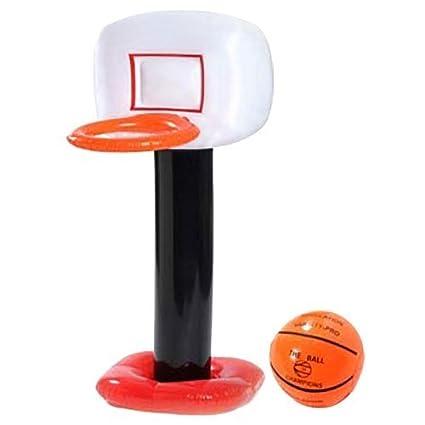 Amazon.com: Pelota hinchable de baloncesto aro y: Toys & Games