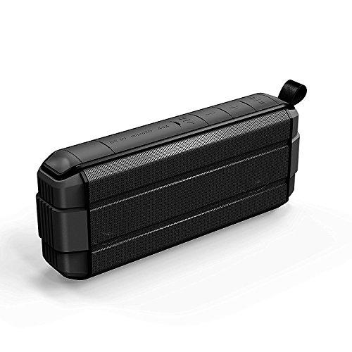(Sasiman Portable Wireless Bluetooth Speaker with 12-Hour Playtime, IP65 Waterproof Shower Speaker ,10W Enhanced Bass Drivers, 33-Foot Bluetooth Range Built-in Mic (Q9))
