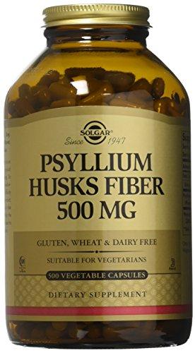 Solgar - Psyllium Husks Fiber 500 mg, 500 Vegetable Capsules