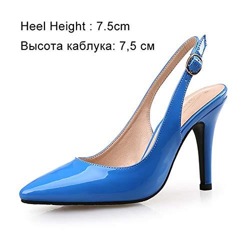 Tobillo Boda Estrecha Del Correa Bombas Punta Blue Tacones Zapato Shoes Femeninos 5cm Mujeres 7 Finos Altos Las Casuales De Zapatos Pingxiannv Señoras X0qBFO7w