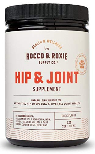Rocco & Roxie Glucosamine for Dogs - Hip and Joint Supplement with Chondroitin Plus MSM - Maximum Strength Dog Arthritis Pain Relief Support - Chewable Pet Supplements - 120 Soft Chews Treats by Rocco & Roxie Supply Co
