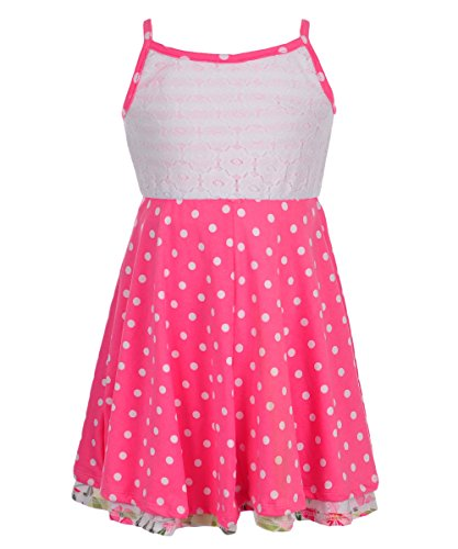 Youngland Little Girls' Toddler Reversible Dress - Pink/Multi, 2t (Reversible Stretch Skirt)