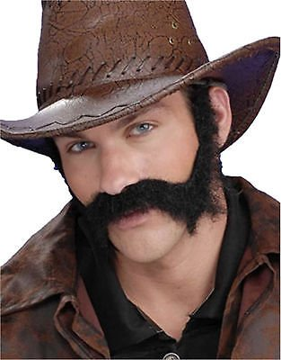 Forum Novelties Wild West General Burnside Civil War Beard - Black -
