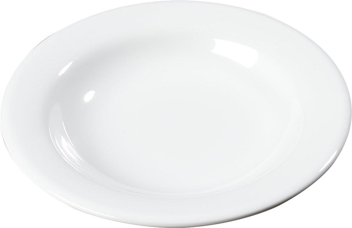 Carlisle 3303402 Sierrus Melamine Pasta / Salad Bowls, 11-oz., White (Set of 24)