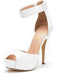 Women's Swan High Heel Plaform Dress Pump Shoes