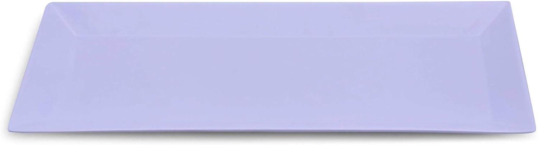 Set of 3 | NOMsquared Rectangular White Plastic Serving Plate. 13