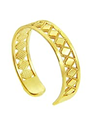 Yellow Gold Puzzle Toe Ring (10K Gold)