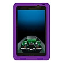 Bobj Rugged Case for ASUS MeMO Pad 7 Models ME176C, ME176CX, ME176CE, K013, K013C - BobjGear Protective Tablet Cover (Playful Purple)