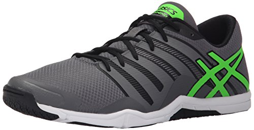 ASICS Men's MET-Conviction, Titanium/Green Gecko/Black, 7.5 M US