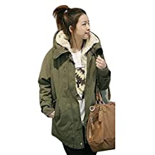 Gillberry Ladies Hooded Parka Fleece Top Winter Warm Womens Long Jacket Coat