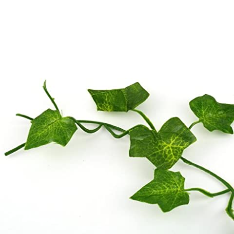 CENDA Artificial Greenery Ivy Vine Leaves Foliage Leaf Flowers Plants Garland Festival for Wedding Party Garden Wall Party Decoration-2M
