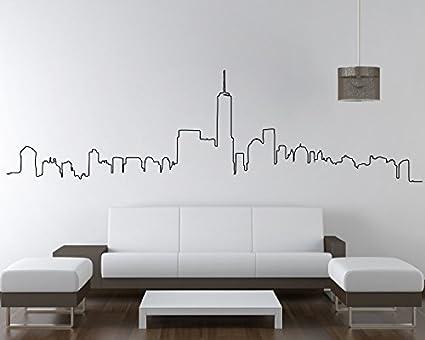amazon com nyc skyline new york city skyline wall sticker city