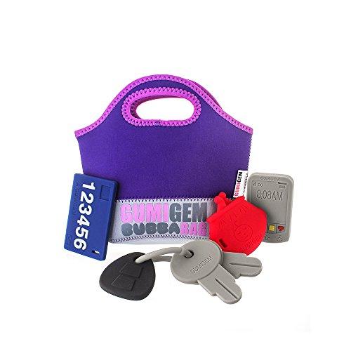 Silicone Teething Toy Bag Bundle (Original) - Save your keys, phone purse...