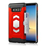 Galaxy Note 8 Wallet Case, Slim Armor Shockproof Heavy Duty Protection Dual Layer TPU&PC Hybrid Case Cover with Card Slot Car Mount Holder Thin Case for Galaxy Note 8 (2)