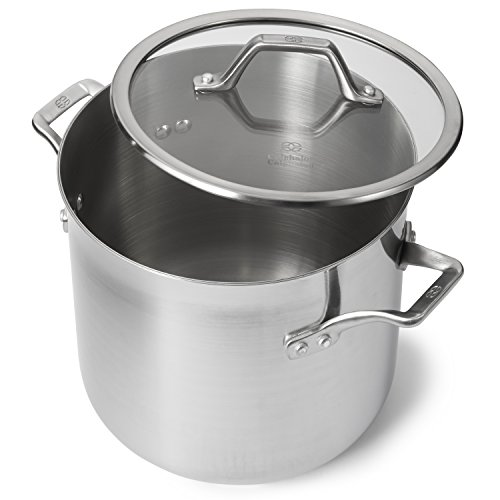 Calphalon 1833953 AccuCore Stainless Steel Stock Pot with Cover, 8-Quart