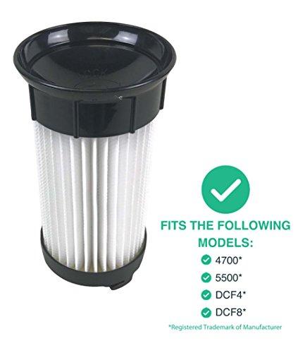 Eureka DCF-4 DCF-18 Washable & Reusable Long-Life Vacuum Filter; Replaces Eureka GE DCF1 DCF4 DCF18 Part # 62132 63073 61770 3690 18505 28608-1 28608B-1; Designed & Engineered By Crucial Vacuum