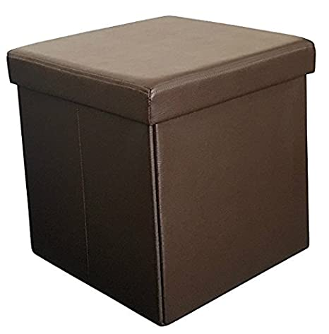 Sodynee New Faux Leather Folding Shoe Storage Ottoman Cubes Bench, Foot  Rest Stool Seat Table