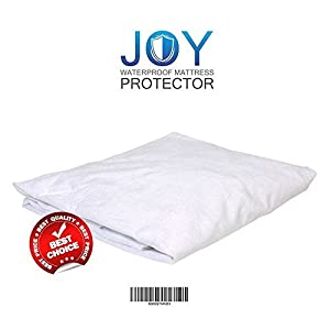 Joy Waterproof Mattress Protector | Queen Size Extremely Hygienic Mattress Protector | Premium Hypoallergenic and Breathable Waterproof Terry Cotton | Outstanding Comfy and Noiseless Mattress Cover