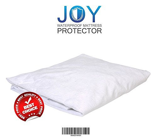 Joy Waterproof Mattress Protector | Queen Size Extremely Hygienic Mattress Protector | Premium Hypoallergenic and Breathable Waterproof Terry Cotton | Outstanding Comfy and Noiseless Mattress Cover Co Sleeper Sleigh Bed