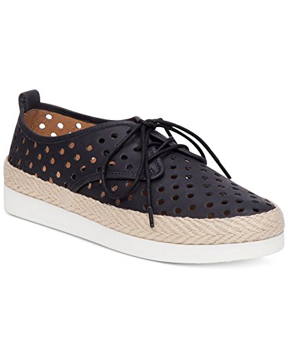 Black Top Leather Fashion Brand Womens Sneakers up Lucky Tikko Lace Low taXqPFWvw