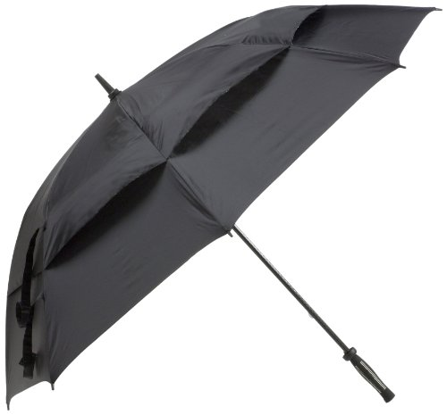 JEF World of Golf 42-Inch Umbrella (Black)