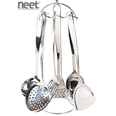 Neet® 7 Piece Stainless Steel Cooking & Serving Utensil Set (SST-700)