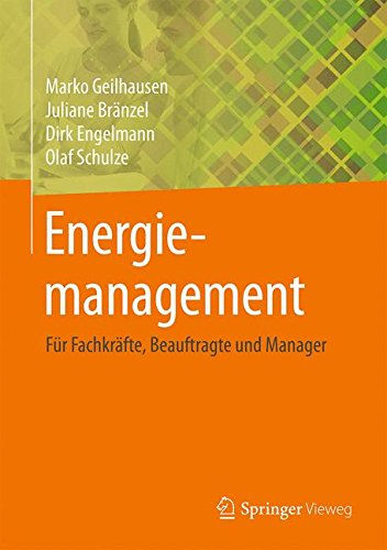 Energiemanagement  Für Fachkräfte Beauftragte Und Manager