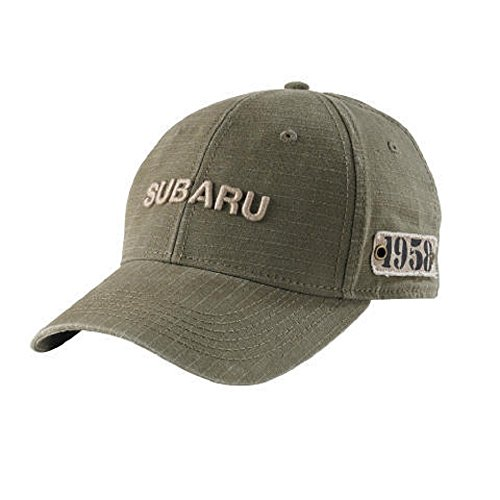 Genuine Subaru Gear Olive Ripstop Ball Cap Hat