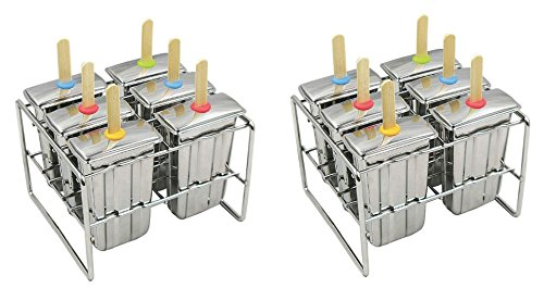 Onyx Stainless Steel Popsicle Mold (2 pack)