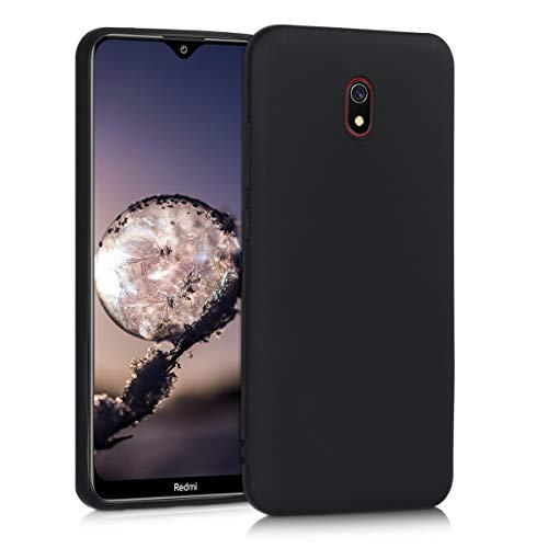 kwmobile TPU Silicone Case Compatible with Xiaomi Redmi 8A - Soft Flexible Protective Phone Cover - Black Matte