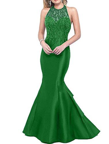 Festlichkleider Promkleider Furbetont Charmant Abendkleider Perlen Jaeger Gruen Grün Damen Damen Meerjungfrau W4qawF