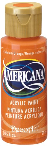 DecoArt Americana Acrylic Paint, 2-Ounce, Cadmium Orange