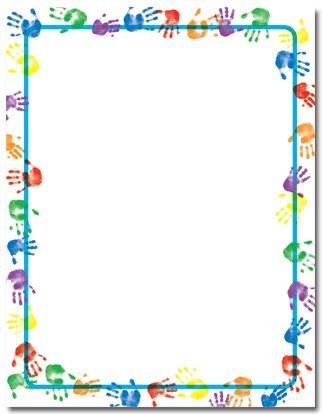 Baby Handprints Stationery Paper - 80 Sheets
