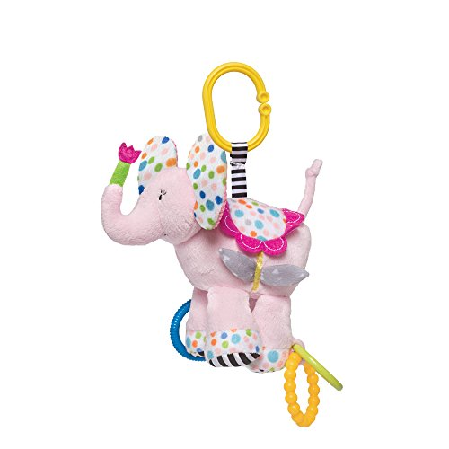 Manhattan Toy Blossoms Elephant Rattle & Teether (Toy Blossom Stroller)