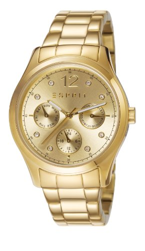 Esprit es106702002 36mm Gold Steel Bracelet & Case Mineral Women's Watch