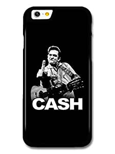 Johnny Cash Black and White Portrait with Finger case for iPhone 6