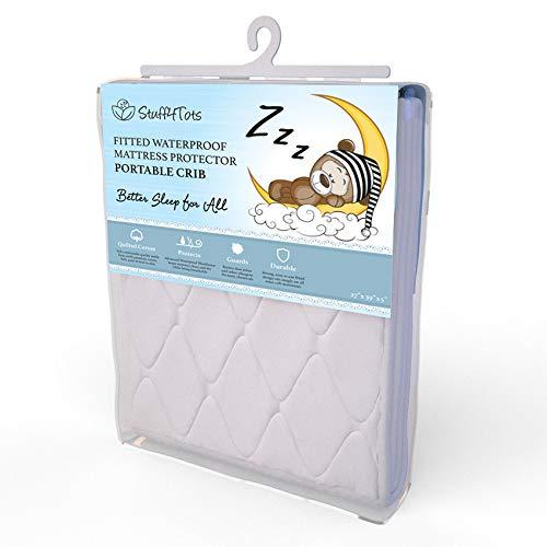 Stuff4tots Playard Mattress Protector Pad. Waterproof Mini-Crib Cover. Washable. 27x39 inch