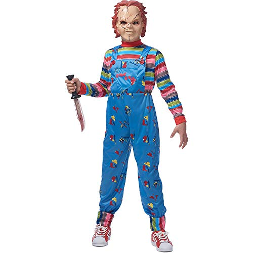 COSTUME CULTURE by FRANCO LLC Chucky Halloween Costume for Boys, Large/Extra Large, with Included Accessories]()