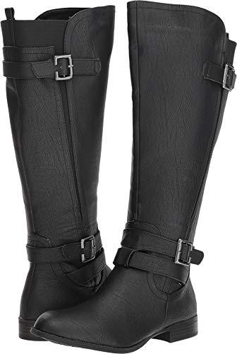 LifeStride Women's Francesca Wide Calf Tall Shaft Boot Knee High, Black wc, 7 M US