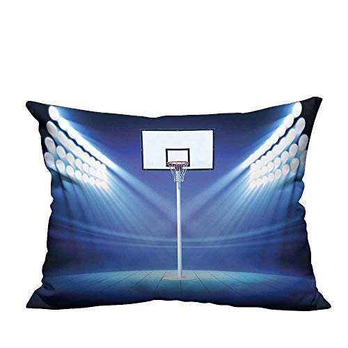 YouXianHome Pillow Case Cushion Cover Basketball Hoop Spotlights Stage Stadium Shoot Score Victory Printing Dyeing (Double-Sided Printing) 19.5x60 inch]()
