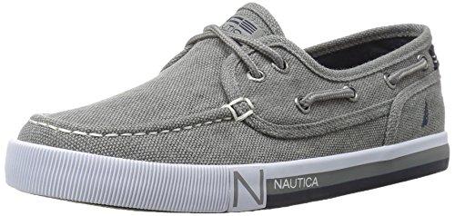 Nautica Boys' Spinnaker Boat Shoe, Grey Washed, 3 M US Little Kid by Nautica
