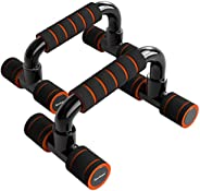 Readaeer Push Up Bars Gym Exercise Equipment Fitness 1 Pair Pushup Handles with Cushioned Foam Grip and Non-Sl